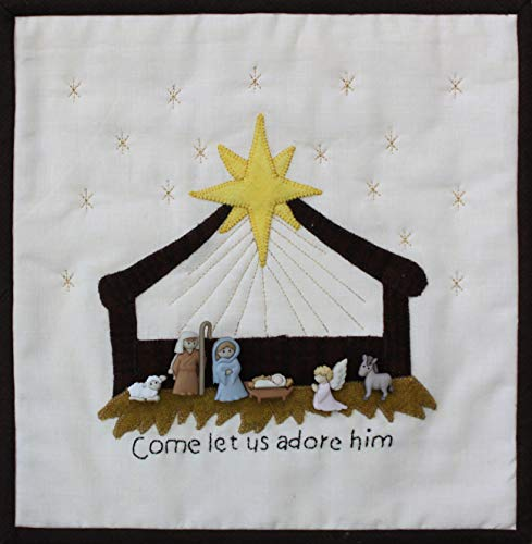 Patchwork Plus VA Come Let Us Adore Him Mini Quilt Kit