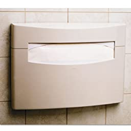 Bobrick 5221 MatrixSeries ABS Surface Mounted Seat Cover Dispenser, High Gloss Finish, 16-1/8\