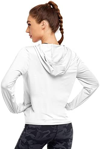 COOTRY UPF 50+ Sun Protection Hoodie Jacket for Women Full Zip Outdoor Sun Shirt with Pockets
