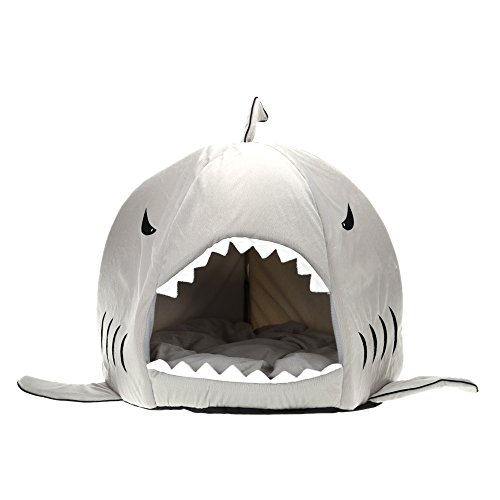 Soft Shark Shaped Pet Dog Bed Lovely Warm and Comfortable Puppy House Kennel Bed with Warm Cotton Cushion