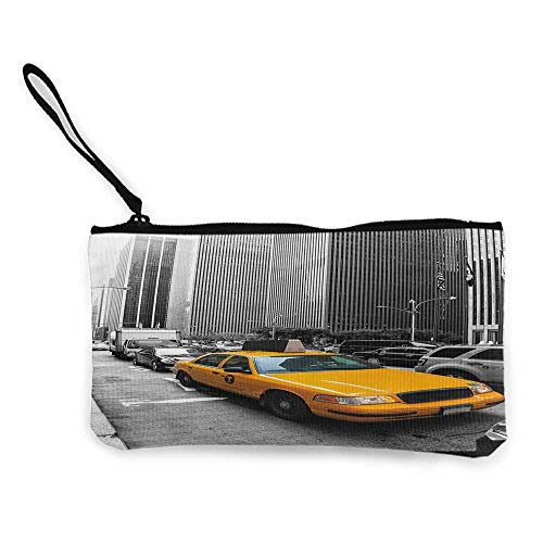 (City,Canvas Purse Yellow Cab in New York City Touristic Attractions Traffic Road Photography W 8.5