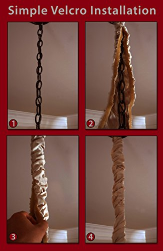 royal designs antique gold cord chain cover 4 feet silk type fabric velcro use for. Black Bedroom Furniture Sets. Home Design Ideas