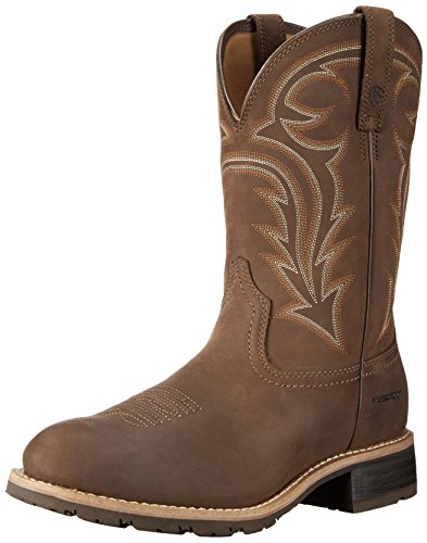 Ariat Men's Hybrid Rancher H2O Western Cowboy Boot, Distressed Brown, 12 2E US