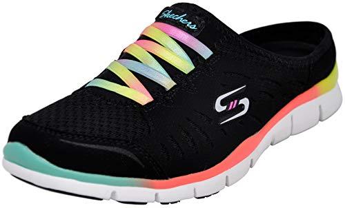 Skechers Sport Women's No Limits Slip-On Mule Sneaker, Black Multi, 9 M US