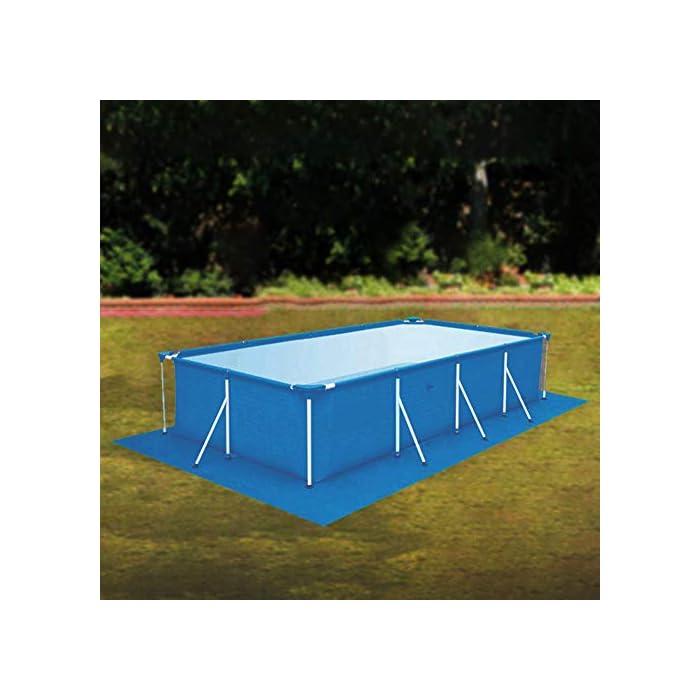 41XDhhoj4WL 【Tamaño adecuado】 330 * 230 cm / 129.92 * 90.55 pulgadas de tela rectangular rectificada / 0.69 kg. 【Fácil y conveniente】 Instalación simple, adecuada para varias piscinas. 【Fácil de transportar y guardar】 Se puede plegar para facilitar el movimiento a cualquier lugar.