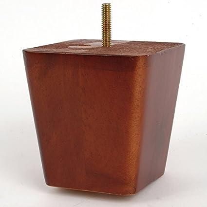 Amazon.com: Pata de sofá de madera cuadrada con acabado en ...