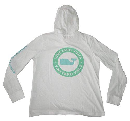 's L/S Whale Dot Hoodie Tee Shirt T-Shirt (Small) White ()