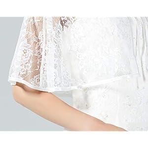 BEAUTELICATE Scialle Coprispalle Elegante Donna Stola Pizzo Cape Mantello Donna Estivo Vintage per Cerimonia Sposa Festa