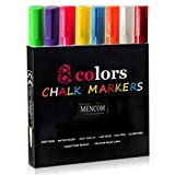 Best Chalk Markers - Mencom Liquid Chalk Markers, Set of 8 Colored Review