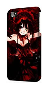 S0009 Date A Live Kurumi Case Cover for Iphone 4 4s