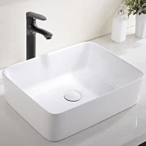 Ufaucet Modern Porcelain Above Counter White Ceramic
