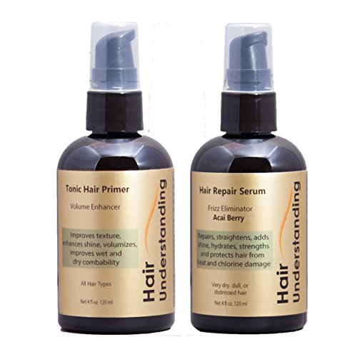 Hair Treatment Kit - Hair Primer & Hair Repair Serum - Frizz Eliminator (Understanding Hair Color)