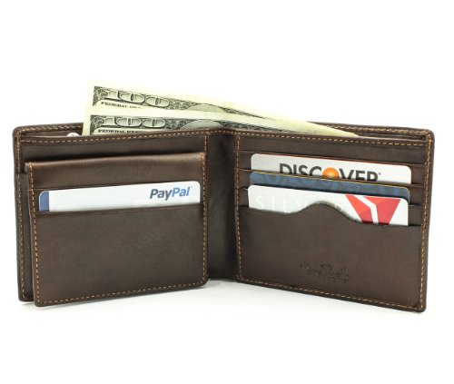 Tony Perotti Prima Wallet with Removable Card Case-Brown