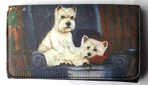 (WEST HIGHLAND WHITE TERRIER (Westie) Dog Wallet Designed by Ruth)