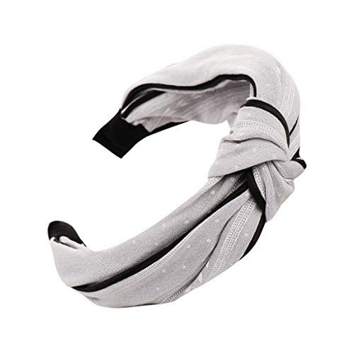 Iusun Headband Knot Print Women Fashion Wide-Brimmed Head Hoop Simple Sweet Girls Hairpin Accessory Hair Care Jewelry Decoration Hairband