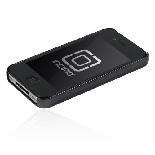 Incipio iPhone 4/4S feather Ultralight Hard Shell Case - 1 Pack - Carrying Case - Retail Packaging - Chrome Black