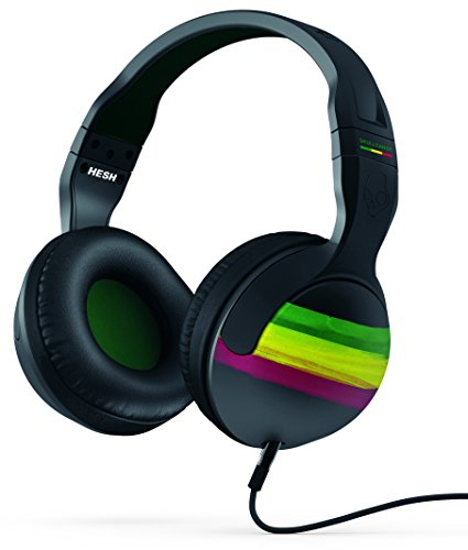 Skullcandy SCS6HSGY-410 Hesh 2.0 Over-Ear Surround Kopfhörer mit Mikrofon rasta/grün/schwarz