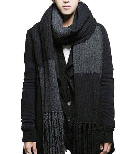 YYX Winter Fashion Womens Men Warm Soft Knitted Wool Long Scarf Shawl (Long Knitted Scarf)