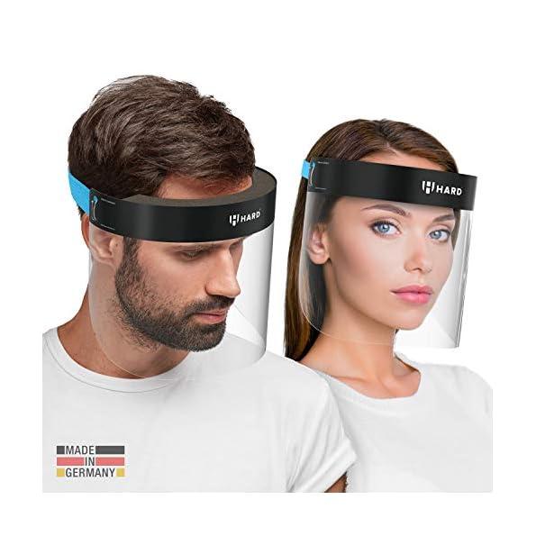 HARD-1x-Pro-Visier-Gesichtsschutz-Zertifiziertes-Face-Shield-mit-Anti-Beschlag-Gesichtsvisier-Gesichtsschild-Made-in-Germany-fr-Erwachsene-BlauSchwarz