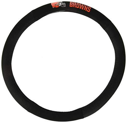 NFL Cleveland Browns Poly-Suede Steering Wheel Cover, Orange