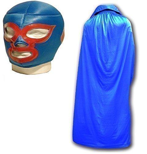 WRESTLING MASKS UK Men's Nacho Libre Mask With Cape Luchador Wrestling Set One Size -