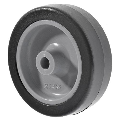 Trolley Wheels 70kg Load Capacity Grey Rubber Wheel by Ross Castors 75mm Light Duty Wheel