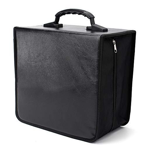 - 400 Disc CD/DVD Wallet Holder Binder Storage Case Bag Album Collect Record Collection Wallet, Black
