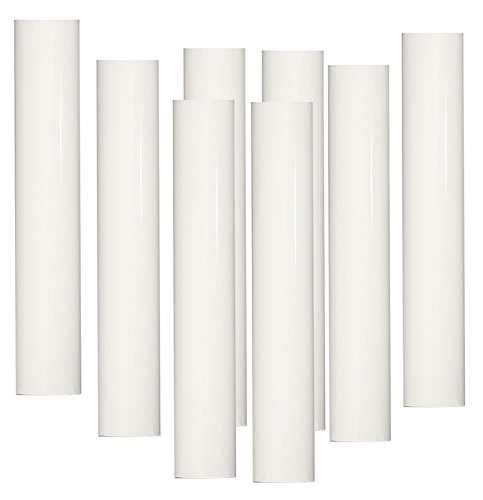 White Lighthouse Lamp (Set of 8 pc 6 Inch Tall White Candelabra Base Thin 3/4