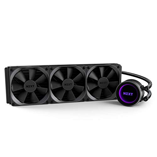 NZXT Kraken X72 360mm - All-In-One RGB CPU Liquid Cooler - CAM-Powered - Infinity Mirror Design - Performance Engineered Pump - Reinforced Extended Tubing - Aer P120mm Radiator Fan (3 Included)