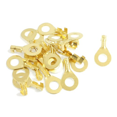 20 Pcs Quick Disconnects Non-insulated Ring Terminal Lug Connector 5mm (5mm Open Ring)