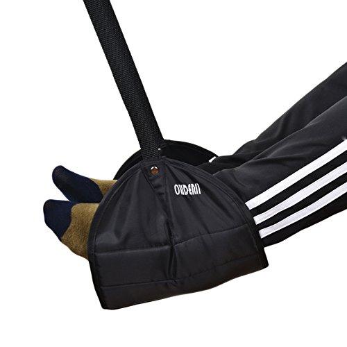 Foot Rest, ohderii Portable Travel Footrest Flight Carry-on Foot Rest Travel Accessories Office Footrests foot hammock(Black)