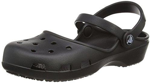 crocs Crocs Karin Clog, Damen Clogs, Schwarz (Black 001), 38/39 EU (6 Damen UK)