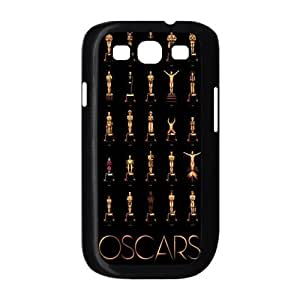 Gold Oscar Statues Cool Fashion Black Hard Case Cover for Galaxy S3 I9300