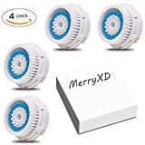 Compatible Facial Brush Heads - MerryXD 4 Pack Daily Cleansing Deep Pore Cleansing Brush Head-Acne Brush Replacement Compatible with Mia 1, Mia2, Mia3 (Aria), SMART Profile, and Radiance facial Cleansing Systems
