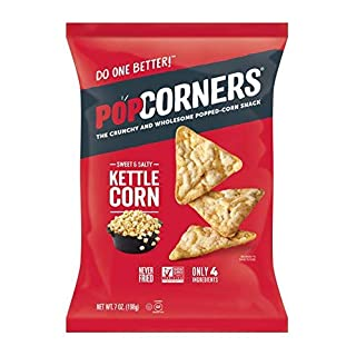 PopCorners Kettle Corn Snack | Gluten Free, Vegan Snack | (12 Pack, 7 oz Snack Bags)-SET OF 4