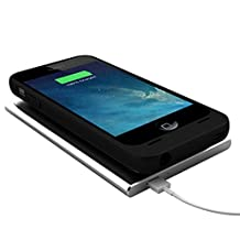 uNu Aero Series iPhone 5S Battery Case / iPhone 5 Battery with Wireless Charging Technology - (Black, Fits All Models Apple iPhone 5S & iPhone 5)