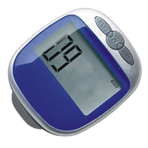 MiFX Multi-function Step Pedometer Large LCD Display Pedometer Walking Calorie Distance Counter (Blue)