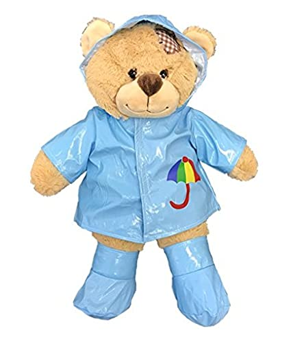 14949562a50 Amazon.com  Blue Raincoat w Boots Outfit Teddy Bear Clothes Fits ...