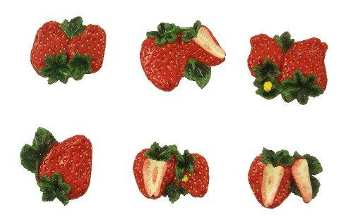 strawberry refrigerator magnets - 2