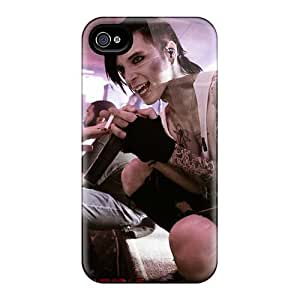 High Quality MGR1364TCho Black Veil Brides Band BVB Tpu Case For Iphone 4/4s