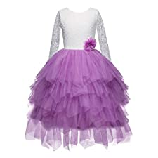 Lace Flower Girl Dress Princess Communion