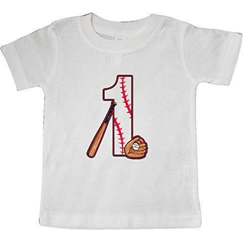 inktastic Baseball First Birthday- One Year Old Baby T-Shirt 12 Months White