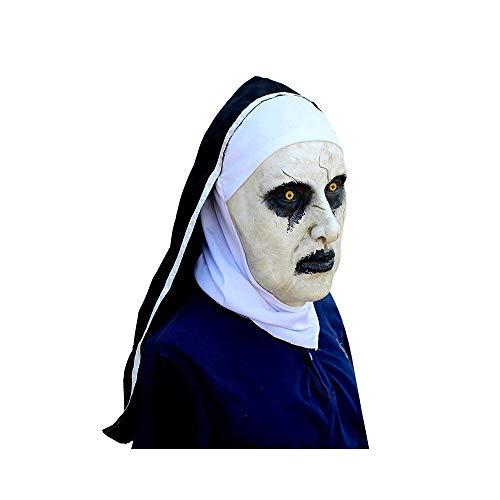 GXSQLW Halloween Nun Mask, Ghost Mask Headgear, Horror Movie Spirit 2 Nuns -