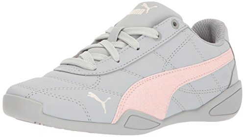 PUMA Girls Tune Cat 3 Glam Sneaker, Gray Violet-Pearl, 11 M US Little Kid