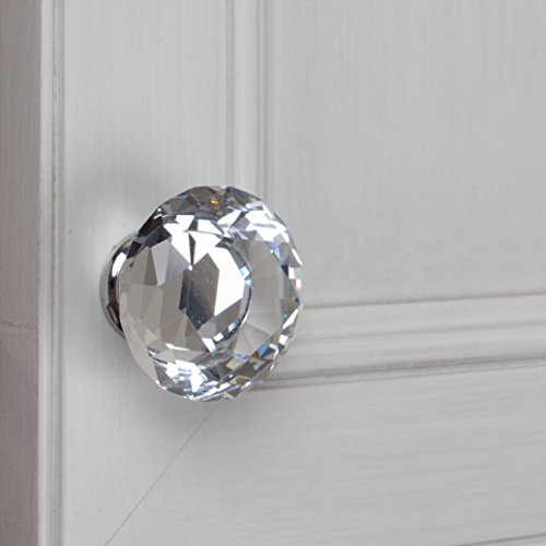 GlideRite Hardware 9054-CR-40-25 K9 Crystal Diamond Shape Cabinet Knobs, 25 Pack, Large, Clear by GlideRite Hardware (Image #4)