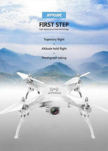 Leewa Foldable RC Selfie Drone, YILE S16 2.4G 4CH Altitude Hold 0.3MP Camera WIFI FPV Real-time RC Quadcopter Drone with Gravity Sensor/Light (White) by Leewa