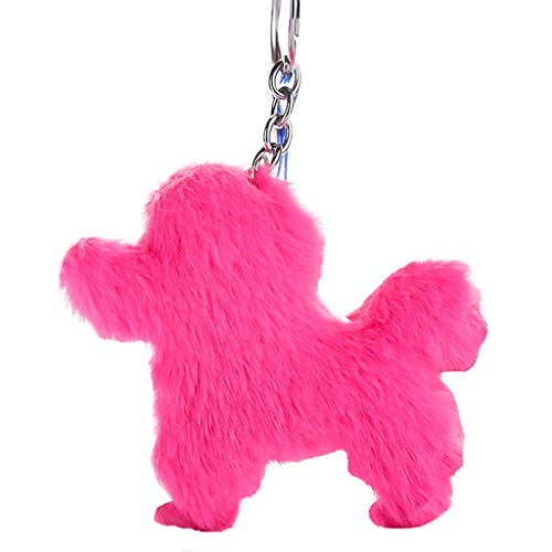 LIM&Shop Plush Keychain Pom Pom Pendant Hanging Key Ring Rope Colorful Bag Pendant Bag Holder Doll Girls Gifts