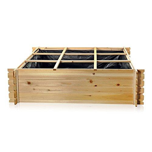 Melko Hochbeet Pflanzkasten Holz Mit 9 Facher 140 Cm 140 Cm 36