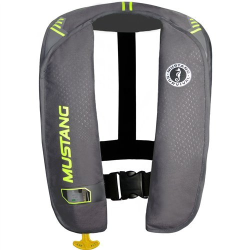 (Mustang Survival Corp M.I.T. 100 Manual Activation PFD, Gray/Fluorescent Yellow Green)