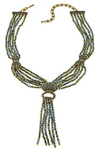 Heidi Daus Swarovski Crystal Multi-Strand Tassel Drop Necklace ~ Upper East Side